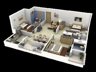 3D lakásbelső